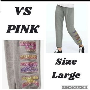 💜💛 NEW! VS PINK BLING CLASSIC PANTS OMBRE